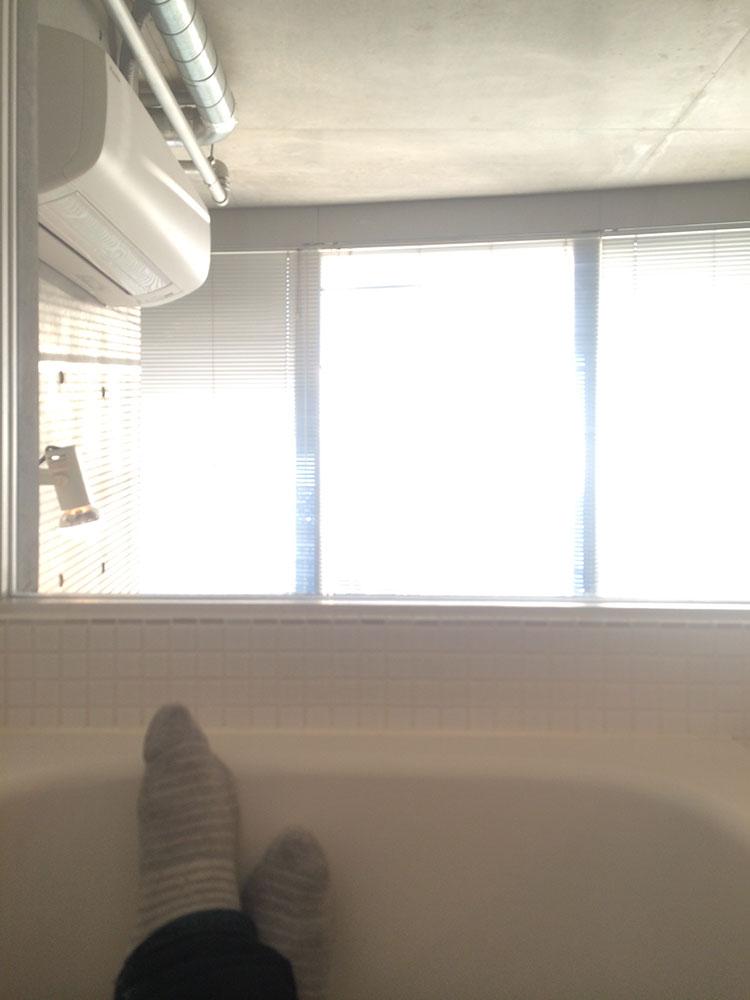 ゆったりお風呂から新宿が見渡せます