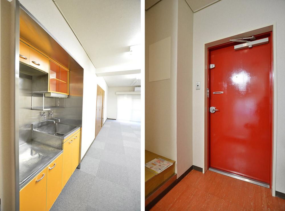 玄関キッチン