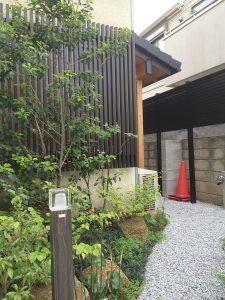日本の粋を愉しむ世田谷の家 引き込み口