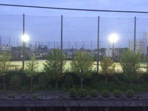 アッパルタメントプラート 運動場が見えます